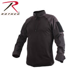 Quarter Zip Military Fire Retardant NYCO Combat Shirt - Left Side View