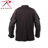 Quarter Zip Military Fire Retardant NYCO Combat Shirt - Rear View