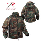 Special Ops Tactical Soft Shell Jacket - Woodland Camo