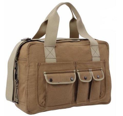 Canvas Two Tone Specialist Carry All Shoulder Bag - Coyote Brown