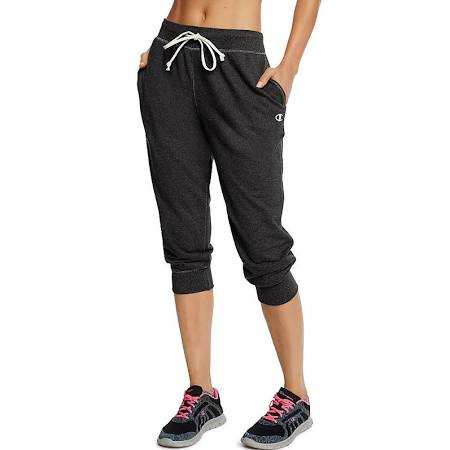 Champion Women's French Terry Jogger Capris - Black