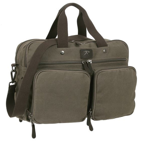 Cotton Canvas Briefcase Backpack-Main
