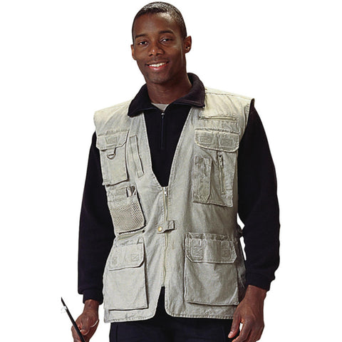 100% Cotton Deluxe Safari Outback Vest-Main