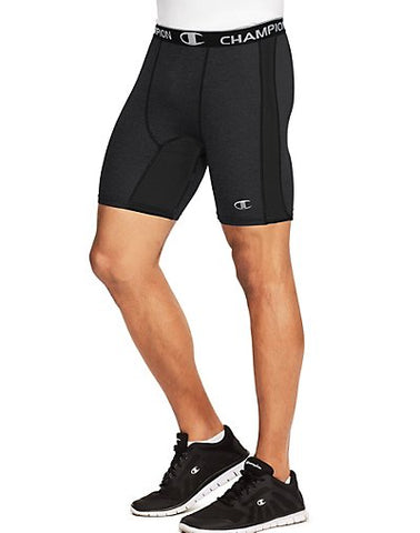 Champion PowerFlex 6-Inch Men's Solid Compression Shorts - Black