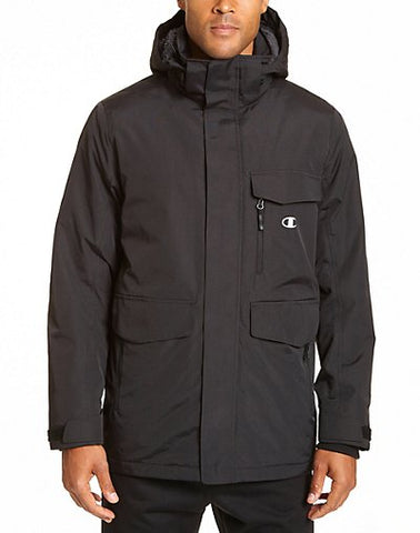 Champion Men's High Performance 2-Layer Jacket With Sherpa Lining - Size 2X - Black