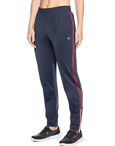 Champion Women's Track Pants - Imperial Indigo/Sideline Red