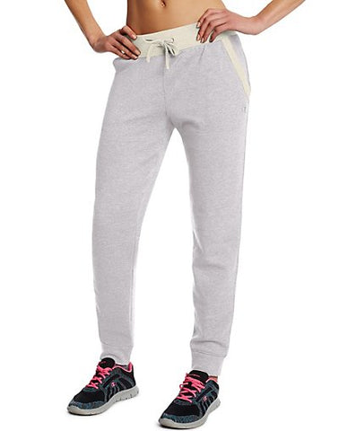 Champion Women's Fleece Jogger Pants - OxfordHeatherOatmealHeather