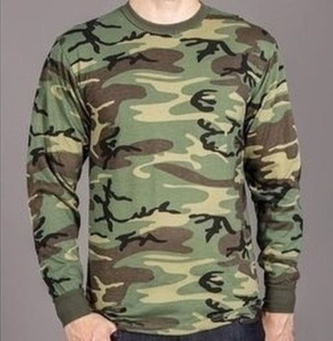 Long Sleeve Camo T-Shirt-Main