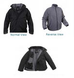 Rothco's reversible All Weather 3 In 1 Jacket - Reversed and interior views