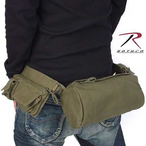 Canvas 7 Pocket Fanny Pack - Main