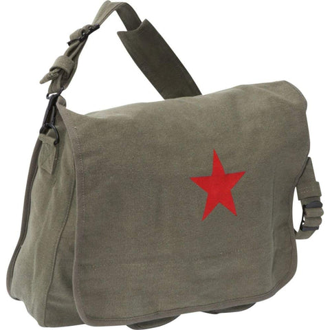 Rothco Canvas Shoulder Bag with Red Star - Main