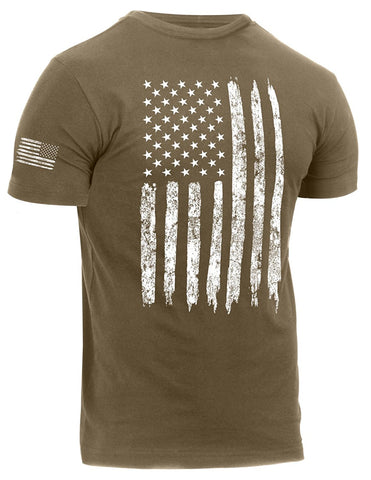 Rothco Distressed US Flag Athletic Fit T-Shirt - Main
