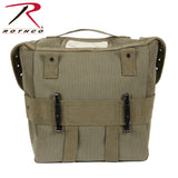 Rothco G.I. Style Canvas Butt Pack - Back view with ALICE clips