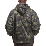 Rothco's Reversible Fleece Lined Jacket with Hood - Back View