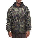 Rothco's Reversible Fleece Lined Jacket with Hood - Front View