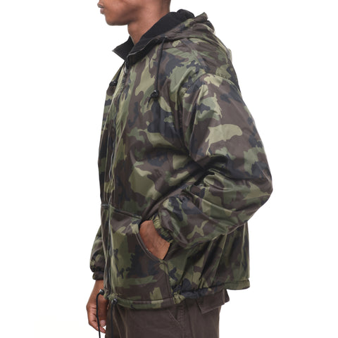 Rothco's Reversible Fleece Lined Jacket with Hood - Side View