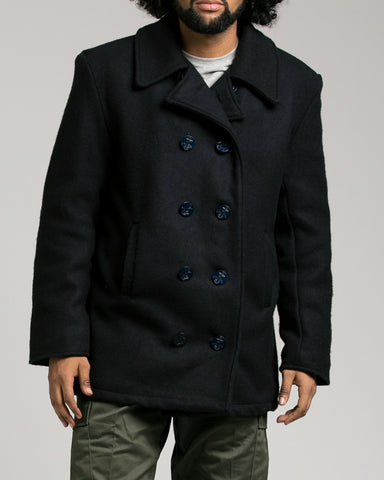 Rothco U.S. Navy Type Pea Coat - Front buttoned