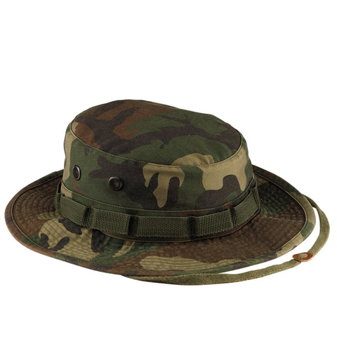Rothco Vintage Boonie Hat - Main - Woodland Camo