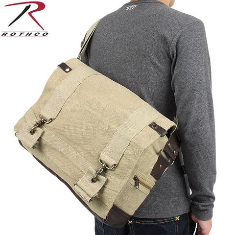 Rothco Vintage Canvas B-15 Pilot Messenger Bag - Main