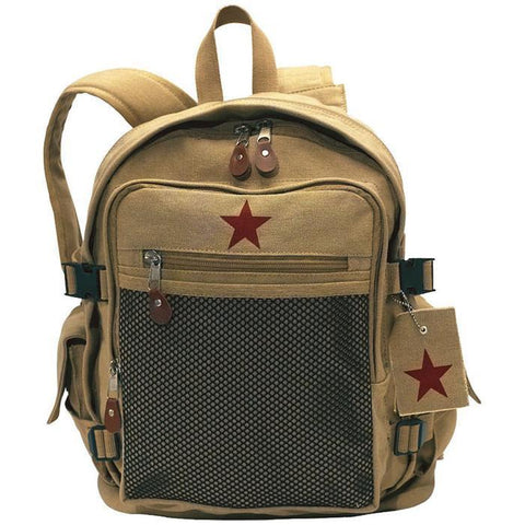 Rothco Vintage Canvas Backpack - Khaki