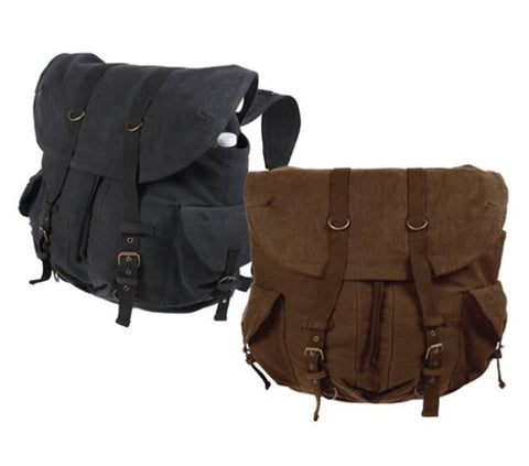 Rothco's Vintage Weekender Canvas Backpack