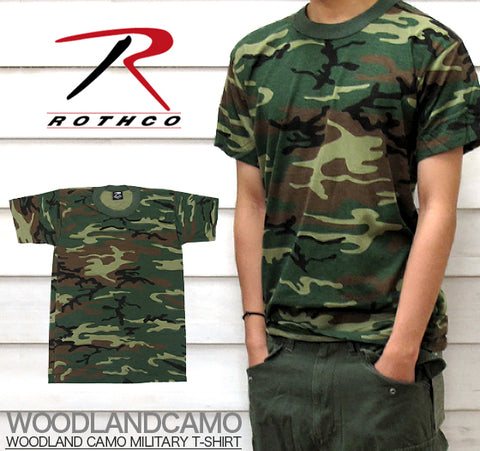Woodland Camo USA made T-Shirt
