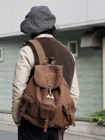 Rothco Vintage Canvas Wayfarer Backpack w/ Leather Accents-Main