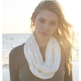 Viscose Bamboo Organic Cotton Infinity Scarf-Canvas-Main