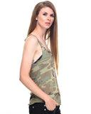 Rothco Women's Camo Racerback Tank Top - Side view