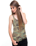 Rothco Women's Camo Racerback Tank Top - Front View