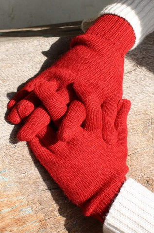 100% Alpaca Wool Lightweight Full Fingered Gloves