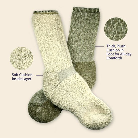 Organic merino wool Killington Mountain Hiking Socks Soft cushion inside layer