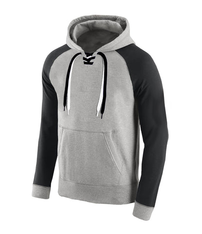 Lace Up Hooded Sweatshirt - Main