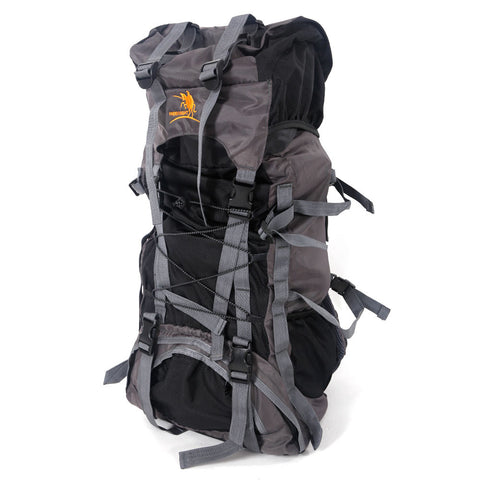 60L Rucksack Waterproof Mountaineering Outdoor Backpack Hiking Bag Camping Black