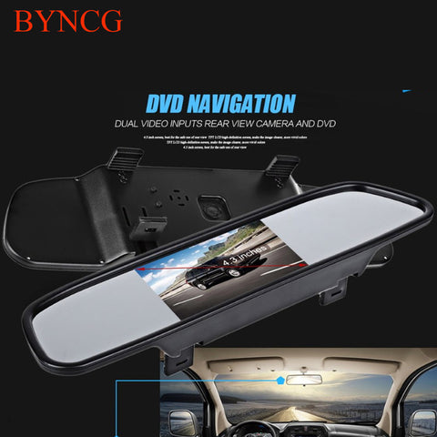 New Univeral Car Rear View Mirror Monitor 5 4.3 Inch Color TFT LCD Parking 4.3'' Rearview Monitor for Backup Reverse Camera