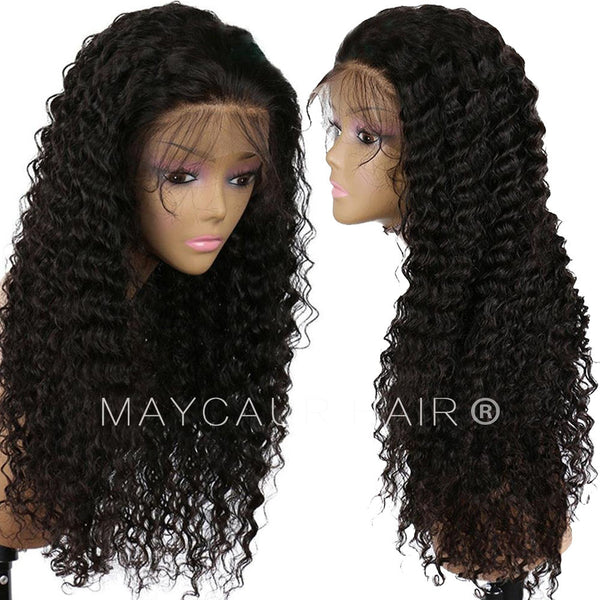 Fashion Human Hair Wigs Kinky Curly Lace Front Wig Full Lace Wig High  Density- 0ef5ab4b4