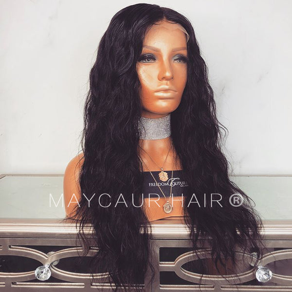... Loose Curly Black Brazilian Human Hair Full Lace Wig Long Lace Front Wig  For Women- ... 9e7b6df1a