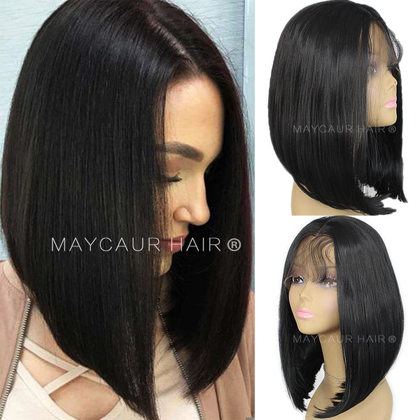 f794520ce Short Bob Hair Synthetic Lace Front Wigs with Baby Hair Heat Resistant Wigs  for Women-