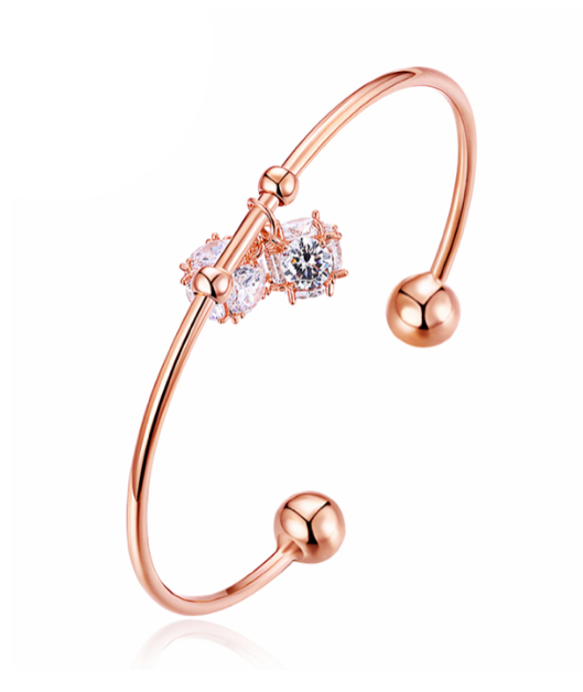 Crystal Bangle Rose