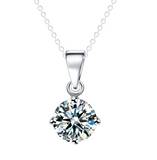 Diamond Necklace Silver