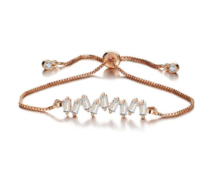 Crystal Row Bracelet Rose