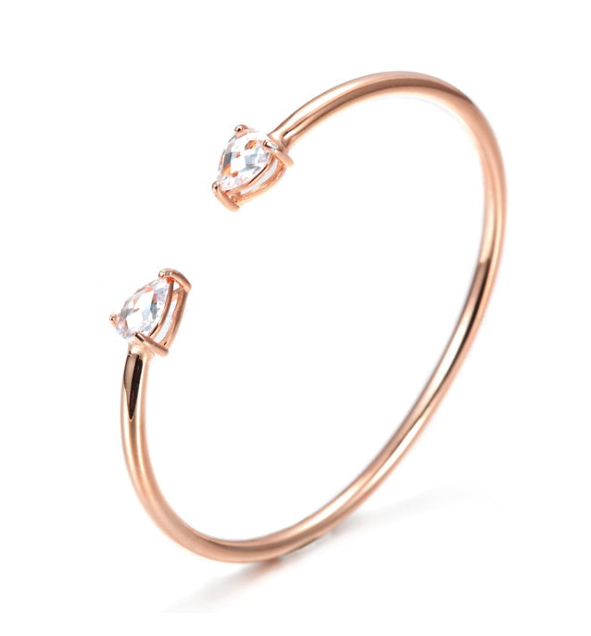 Diamond Cuff Bangle Rose