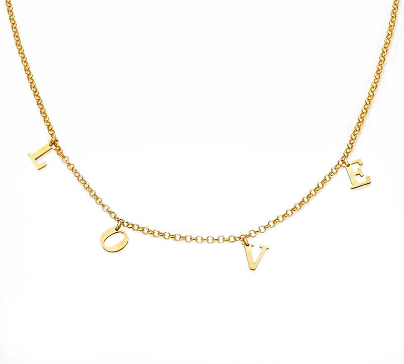 'LOVE' Choker Gold