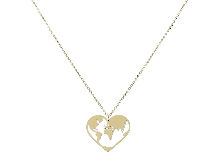 'LOVE-THE-WORLD' Necklace Gold