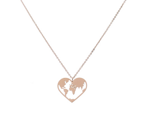 'LOVE-THE-WORLD' Necklace Rose