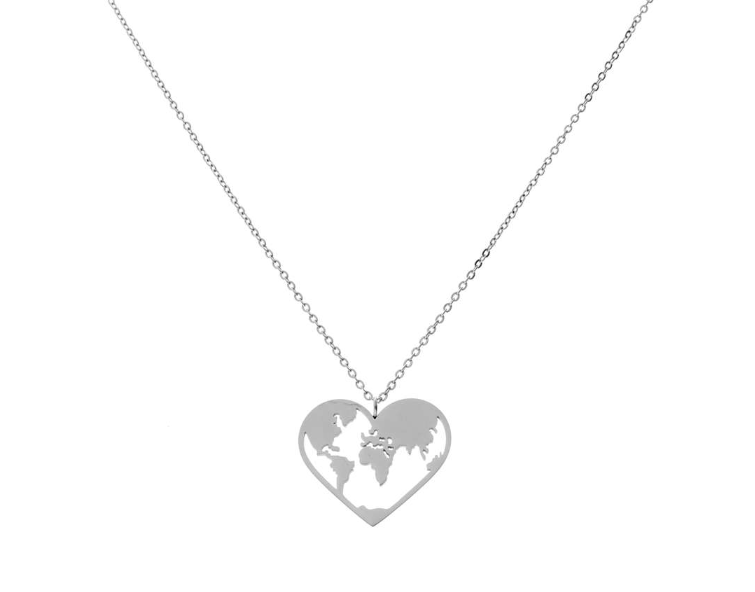 'LOVE-THE-WORLD' Necklace Silver