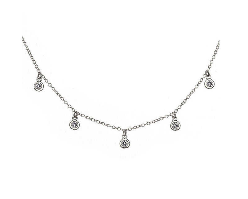 'MULTI DROP' Choker Silver