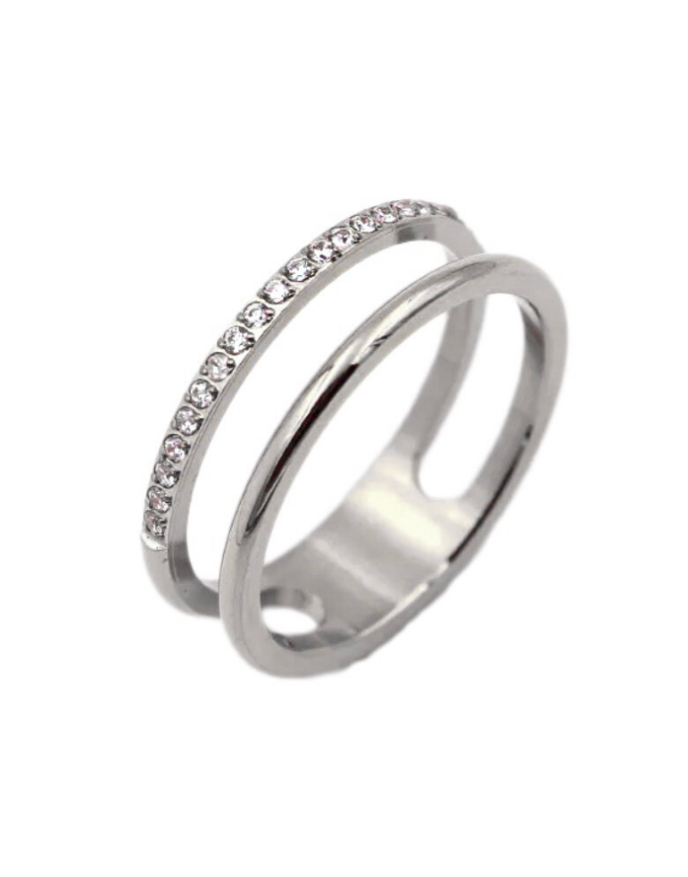 Double Row Ring Silver