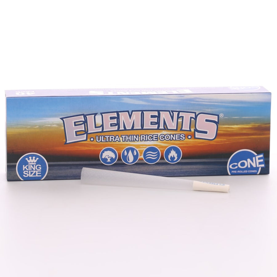 Elements King Size Pre-Rolled Cones - Box of 40