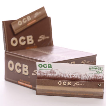 OCB Virgin Unbleached King Size Slim Papers